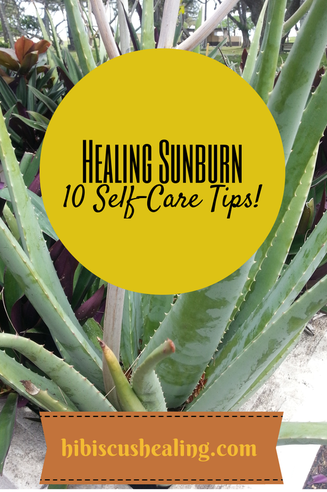 How to heal sunburn